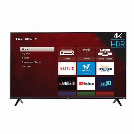 历史新低!TCL 65S425-CA 65英寸 4K超高清智能电视5.5折 499.99加元包邮!与Costco店内促销同价!