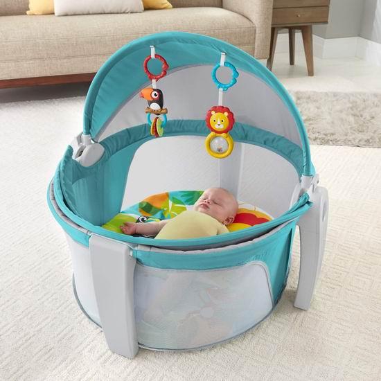 Fisher-Price 费雪 On-The-Go 便携式二合一 婴儿睡眠/玩乐围栏 69.97加元包邮!