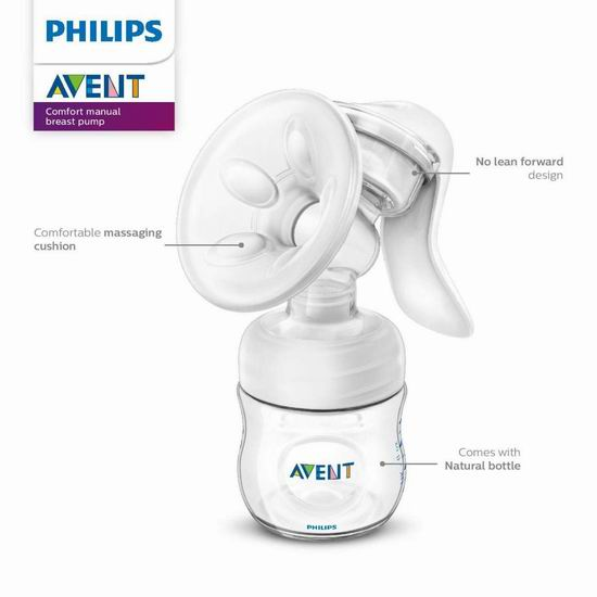 Philips 飞利浦 Avent 新安怡 SCF330/30 舒适手动吸奶器8.3折 46.99加元!