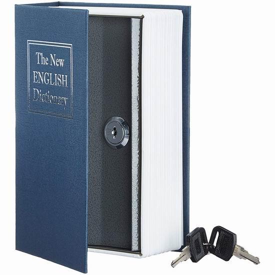 历史新低!AmazonBasics 创意英文字典 书本型 小号金属保险箱 8.44加元!