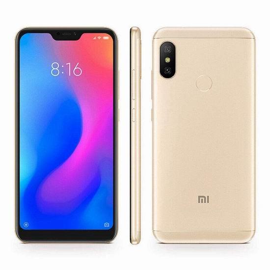 历史新低!Xiaomi 小米 Mi A2 Lite 5.84英寸 双卡双待 双摄 解锁版智能手机(64GB + 4GB) 246.99加元包邮!3色可选!