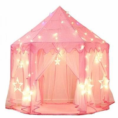 MonoBeach Princess Castle LED星星灯饰 粉红超美公主帐篷 42.45加元限量特卖并包邮!