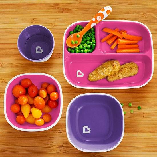 Munchkin Splash 婴幼儿餐盘4件套 12.6-13.59加元!男女宝宝2套可选!