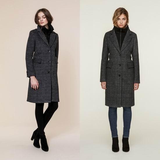 SOIA & KYO Minerva Prince De Galles 女式单排扣羊毛混纺大衣5.2折 307.12加元包邮!