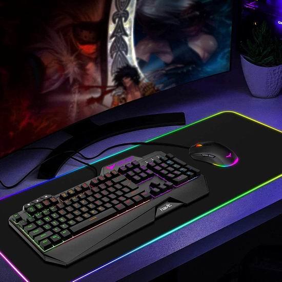 HAVIT 彩虹背光有线游戏键盘鼠标套装 28.89加元限量特卖并包邮!