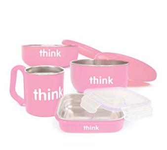 精选 Thinkbaby 儿童餐具套装 47.99加元(3色),原价 59.18加元,包邮