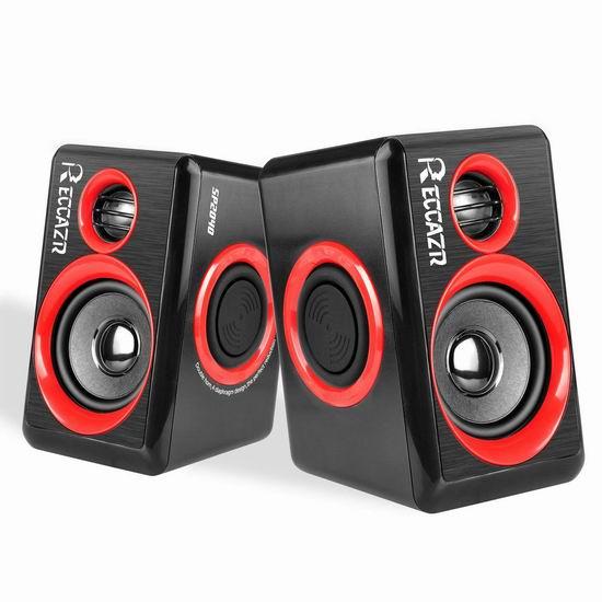 历史新低!RECCAZR SP2040 重低音 环绕立体声有线音箱 13.38加元清仓!