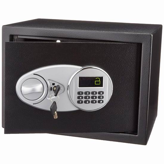 近史低价!AmazonBasics Security Safe 0.5立方英尺电子密码保险箱 58.25加元包邮!