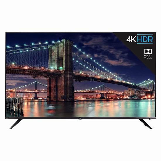 TCL 55R617-CA 55英寸 4K超高清智能电视(2019版)6.2折 529.99加元包邮!