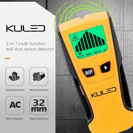 Kuled M79 三合一金属探测仪/墙体探测仪 12.74加元限量特卖!