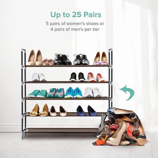 Sable 25双容量 5层组合鞋架5.5折 19.99加元!