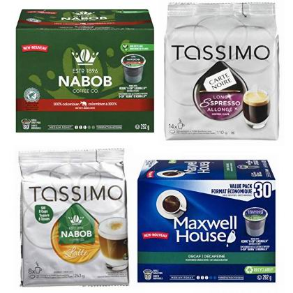 金盒头条:精选 Nabob、Maxwell House、Tassimo 胶囊咖啡5.3折起!