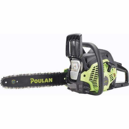 逆季清仓!历史新低!Poulan PL3314 33cc 14英寸汽油驱动链锯机5折 100加元包邮!Home Depot同款208加元!