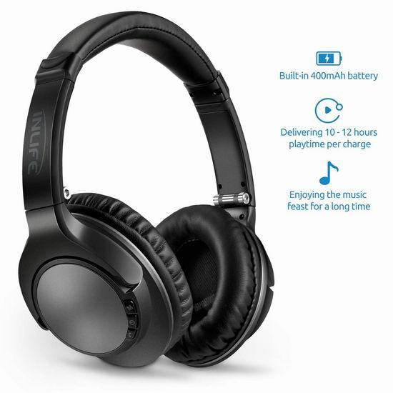 INLIFE 蓝牙无线头戴式耳机5.7折 16.99加元限量特卖!