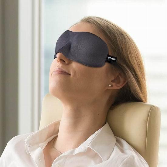 白菜价!历史新低!HOMIEE 记忆海绵 3D睡眠眼罩 3.99加元清仓!2色可选!