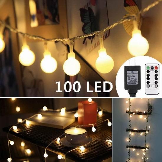 手慢无!ALOVECO 100 LED 13.3米 防水童话装饰灯5.2折 14.38加元限量特卖!