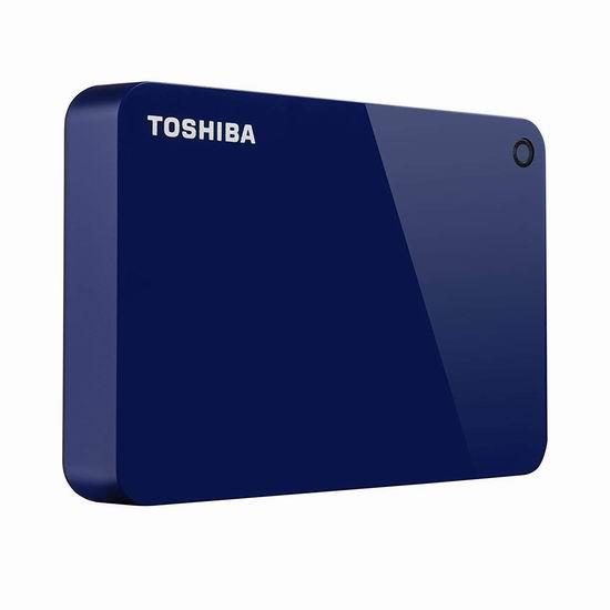 金盒头条:历史新低!Toshiba 东芝 Canvio Advance 4TB 超便携移动硬盘 117.99加元包邮!