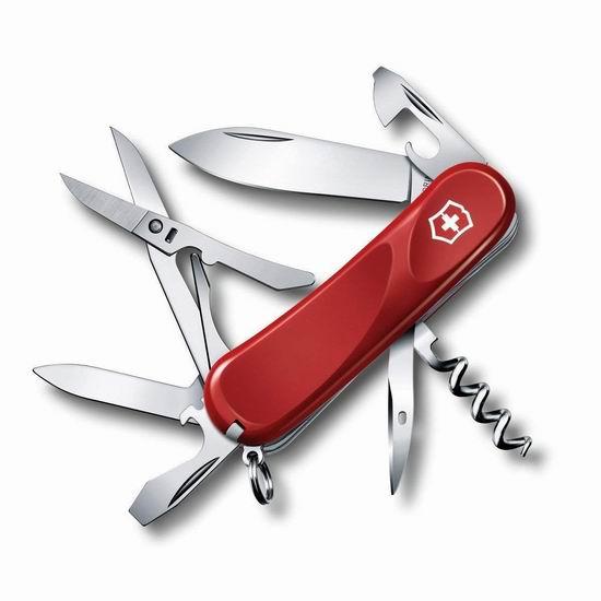 近史低价!Victorinox Swiss Army 维氏正宗瑞士  Evolution 14功能口袋刀5.7折 34.22加元!