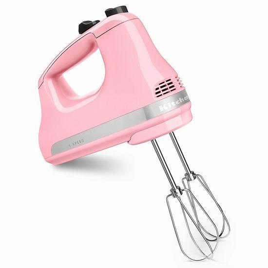 销量冠军!KitchenAid KHM512 5速手持式强力搅拌器5.3折 48.98加元包邮!4色可选!