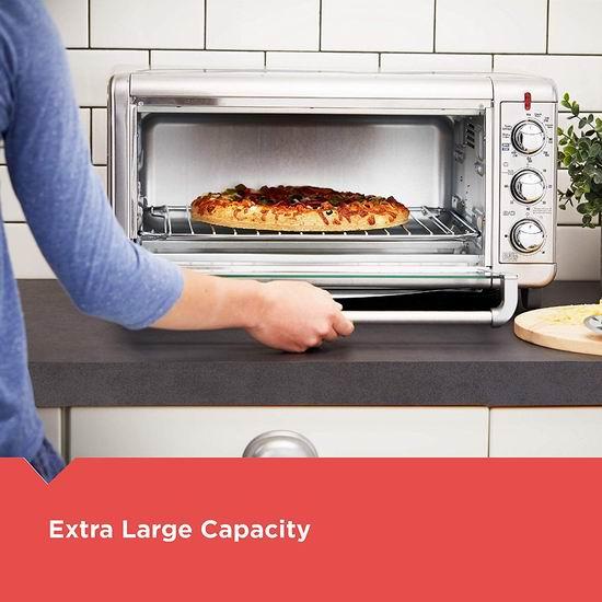 历史新低!BLACK+DECKER TO3265XSSD Crisp N Bake 健康无油 加宽 空气炸锅烤箱4.7折 89.99加元包邮!