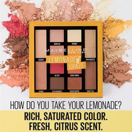 平价战斗机!Maybelline美宝莲 12色柠檬眼影盘 11.36加元,原价 13.96加元