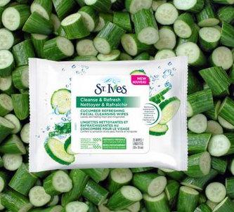 St Ives圣艾夫斯黄瓜清爽面部清洁湿巾 25张 6.62加元,原价 13.51加元