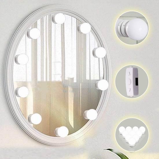 TOMNEW 10 LED 可调亮度 化妆镜照明灯 16.99加元限量特卖!