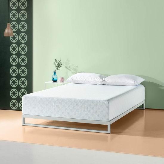 Zinus 12英寸绿茶记忆海绵 Queen床垫 329.99加元包邮!
