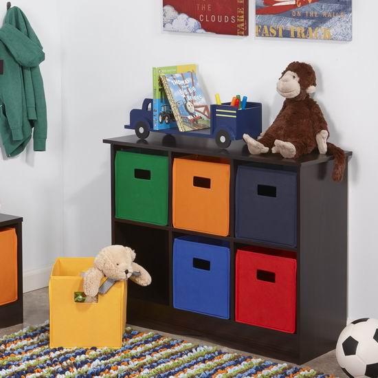 历史新低!RiverRidge 02-034 儿童6格玩具书籍收纳柜4折 70.84加元包邮!