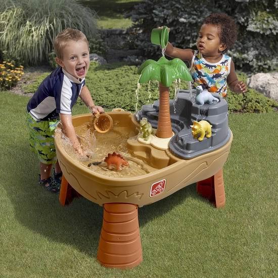 手慢无!Step2 Dino Dig 戏水玩沙两用 儿童游戏桌 79.97加元包邮!