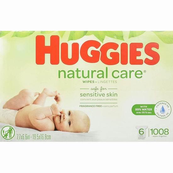 Huggies 好奇 Natural Care 天然呵护 无香型 婴儿湿巾纸(1056片) 18.02加元包邮!