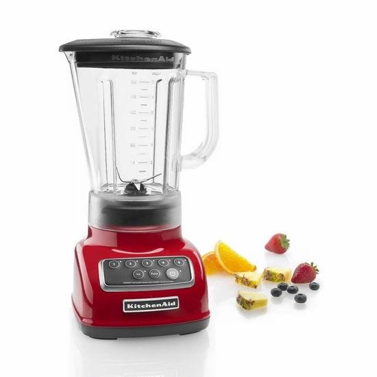 KitchenAid KSB1570 经典款 56盎司5速立式搅拌机5.9折 99.99加元包邮!3色可选!