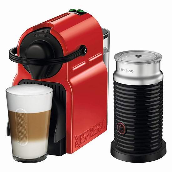 Nespresso Inissia 胶囊咖啡机及奶泡机套装 99.99-169.99加元包邮!2色可选!