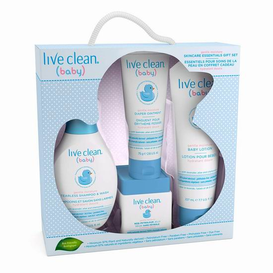 Live Clean 加拿大有机天然环保防敏婴儿护肤礼盒装 17.24加元,原价 22.99加元