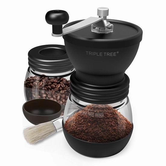 Triple Tree 双罐 手动咖啡豆研磨机 19.99加元限量特卖!