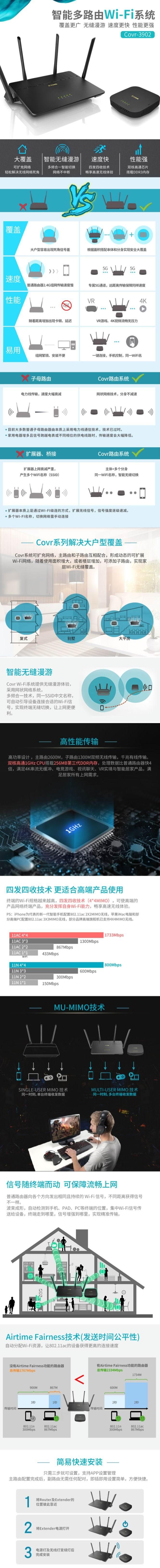 金盒头条:D-Link 友讯 COVR-3902 分布式路由套装 双千兆无线路由器4.5折 179.99加元包邮!
