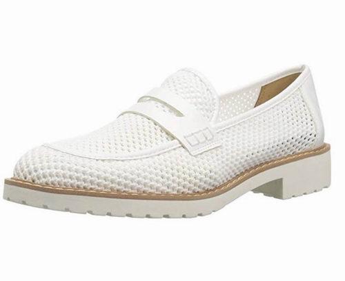 Franco Sarto Celeste 透气乐福鞋 白色款 50.85加元(7.5码),原价 88.26加元,包邮