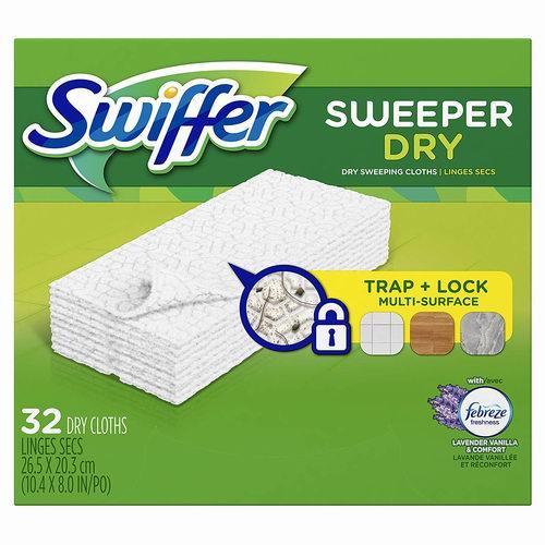 Swiffer 一次性拖把湿抹布 32片 7.57加元