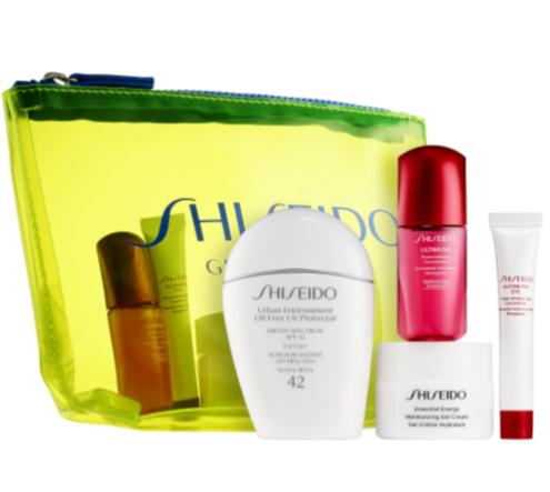 Shiseido 资生堂 小白瓶防晒霜+红腰子精华+保湿面霜 +眼霜套装 售价62加元!
