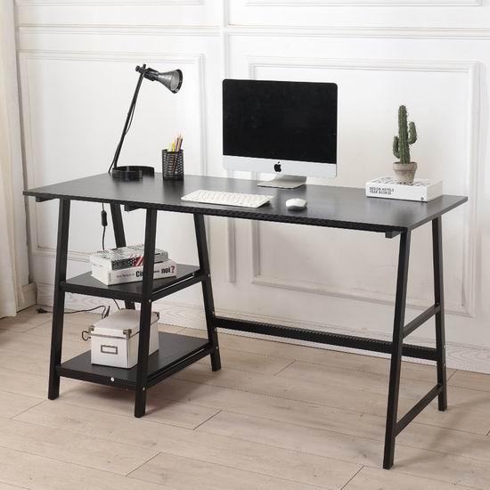 历史新低!DlandHome 55英寸 时尚电脑桌/书桌4.4折 79加元包邮!