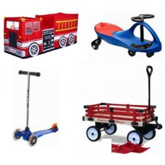 精选多款滑板车、平衡车、扭扭车、拖车、玩具屋、充气跳跳乐、滑雪圈等6折起!