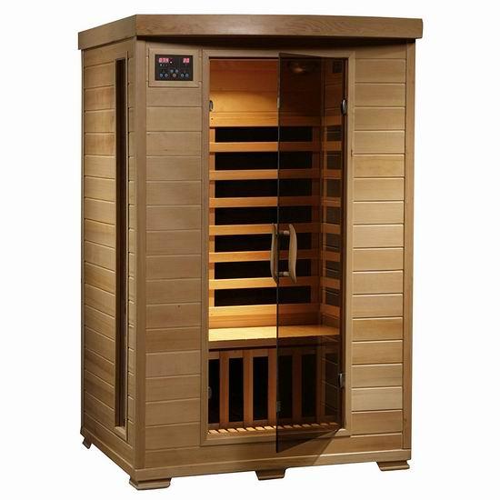 历史最低价!Radiant Saunas BSA2409 铁杉木 远红外 双人汗蒸房/桑拿浴房 2074.98加元包邮!