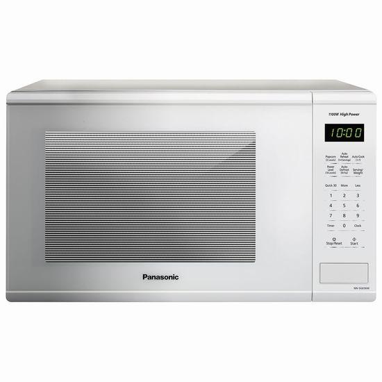Panasonic 松下 NNSG656W 1.3 cu.ft. 1100W 白色时尚微波炉6.2折 99.99加元包邮!