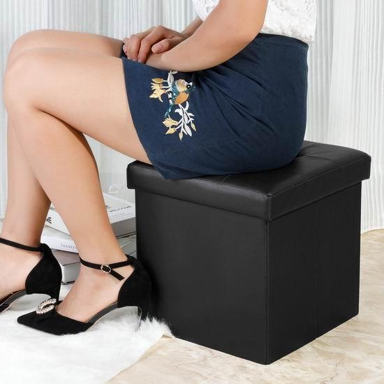 历史新低!B FSOBEIIALEO 可折叠式人造革脚踏凳 19.99加元!2色可选!