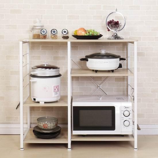 DlandHome 35.4英寸 三层式 厨房收纳桌 48.4加元限量特卖并包邮!3色可选!