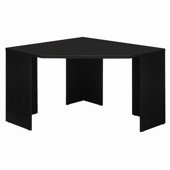 白菜价!历史新低!Bush Furniture Stockport 经典黑 墙角电脑桌/书桌2.3折 97.13加元包邮!