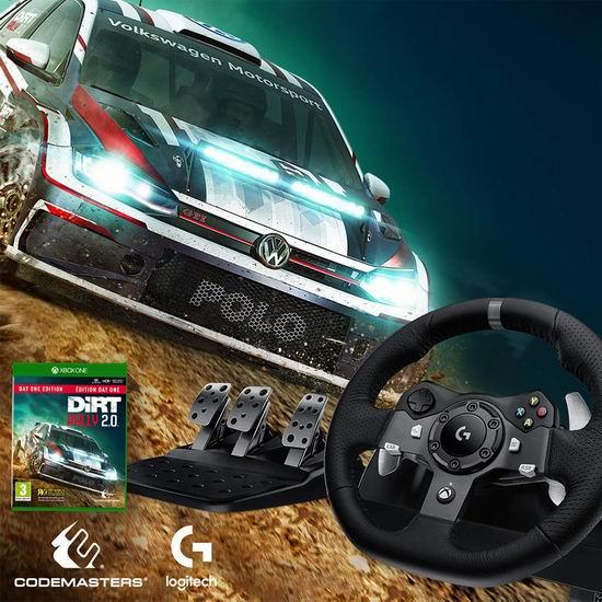 Logitech 罗技 G29/G920 赛车游戏方向盘+脚踏板5.3折 268.63加元包邮!PS版/兼容PC!