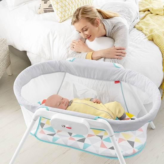 黑五价:历史新低!Fisher-Price 费雪 Stow N Go 便携式婴儿摇篮5折 50加元包邮!