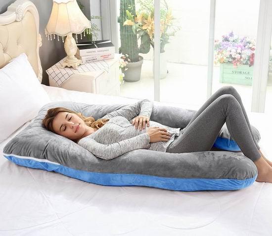 Ang Qi U型身体支撑枕/孕妇身体枕 67.99加元限量特卖并包邮!