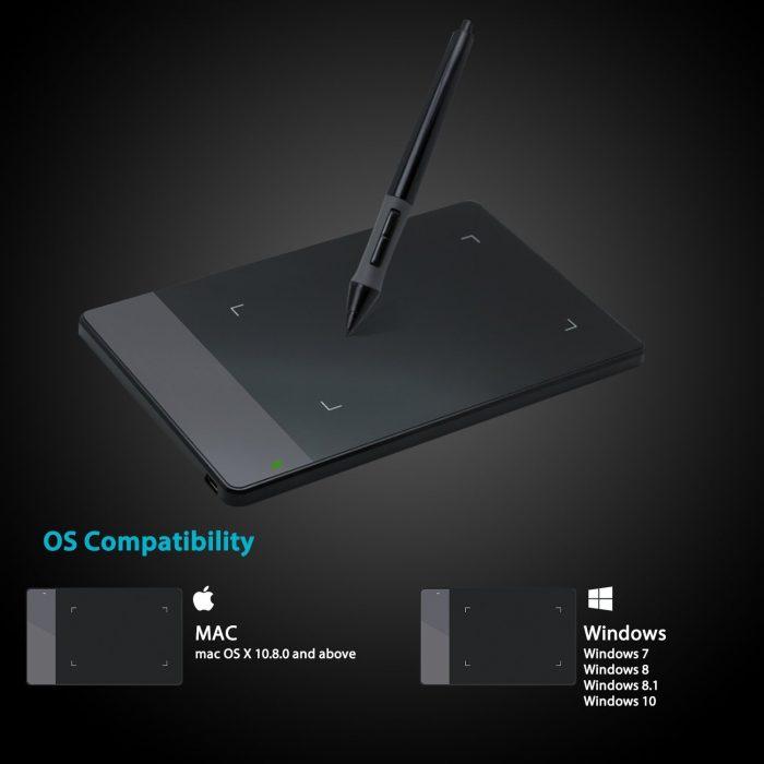 Huion 绘王 420 数位板/绘图板/手写板 26.04加元!
